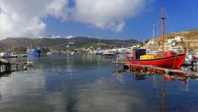 Port de Skala sur l'île de Patmos Photographie stock libre de droits
