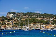 Port de Soller i Mallorca Arkivbild