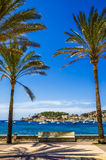 Port DE Soller in Mallorca Stock Foto
