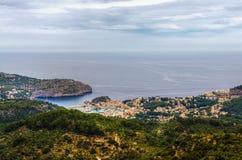 Port de Soller on Mallorca. An aerial view of Port de Soller on Mallorca Stock Photography