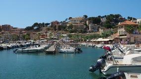 Port de Soller, Mallorca, Spain. The port during the summer season stock video footage