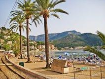 Port de Soller - promenade at harbor, Majorca Royalty Free Stock Photography