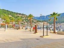 Port de Soller - promenade at harbor, Majorca Stock Image