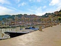 Port de Soller - promenade at harbor, Majorca Stock Photography