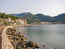 Port de Soller - promenade with hotels, Majorca Royalty Free Stock Photography