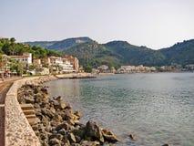 Port de Soller - promenade with hotels, Majorca Royalty Free Stock Photos