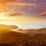 Port de Soller sunset in Majorca at Balearic island Stock Photography