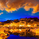 Port de Soller sunset in Majorca at Balearic island Stock Image