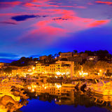 Port de Soller sunset in Majorca at Balearic island Stock Photo