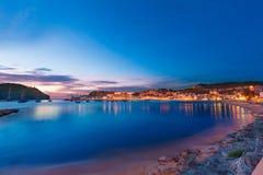 Port de Soller sunset in Majorca at Balearic island Stock Photos