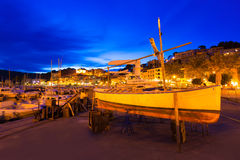 Port de Soller sunset in Majorca at Balearic island Royalty Free Stock Image
