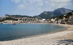 Port de Soller. View of the bay of Port de Soller, Spain Stock Photography