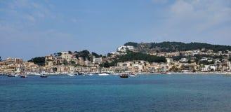 Port de Soller. View of Port de Soller, Spain Stock Photos