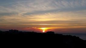 Port de Soller vom Leuchtturm Stockfotografie