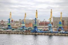 Port de St Petersbourg de ville Photographie stock