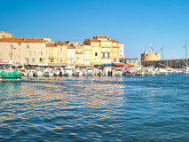 Port de St Tropez, France Photographie stock