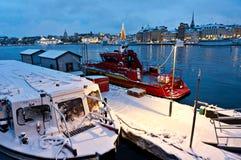 Port de Stockholm Images libres de droits