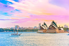 Port de Sydney au crépuscule Photos libres de droits