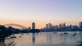 Port de Sydney de brume de la chaleur Photo libre de droits