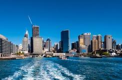 Port de Sydney comme vu de Quay circulaire images libres de droits
