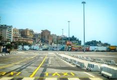 Port de taxi de stationnement de Gênes Image libre de droits