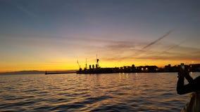 Port de thessal9niki images stock