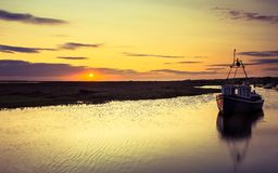 Port de Thornham, Norfolk LE R-U Photos stock