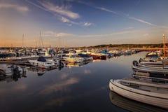Port de Torekov Suède Images libres de droits