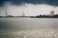 Port de Townsville - orageux Images libres de droits