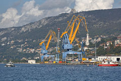 Port de Trieste Image libre de droits