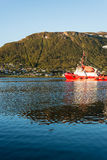 Port de Tromso, Norvège Photos stock
