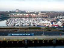 Port de Tyne, Newcastle, Angleterre Photo stock
