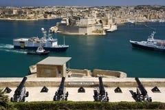 Port de Valletta - Malte image libre de droits