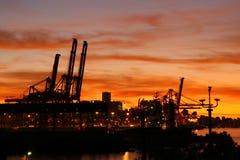 Port de Vancouver au coucher du soleil Photos libres de droits