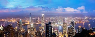 Port de Victoria, île de Hong Kong, Chine Images libres de droits
