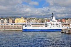 Port de villa San Giovanni. l'Italie. photos stock