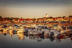 Port de village de Torekov Photographie stock