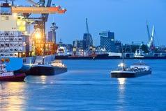 port de ville Photographie stock