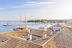 Port de ville de Krk, Croatie photographie stock libre de droits