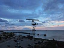 Port de ville de Ventspils, Lettonie photo libre de droits
