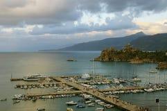 Port de ville médiévale Images libres de droits
