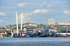 Port de ville de Vladivostok Image stock