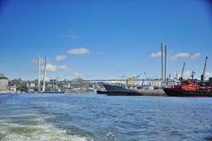 Port de ville de Vladivostok Photographie stock
