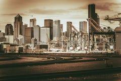 Port de vintage de Seattle Photographie stock