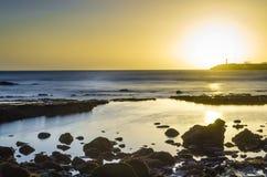 Port de visibilité directe Cristianos au coucher du soleil photographie stock libre de droits