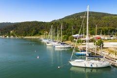 Port de voiliers Photos libres de droits