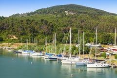 Port de voiliers Photos stock