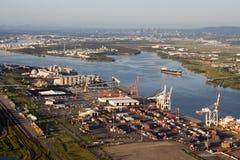 Port de vue aérienne de Brisbane Images stock