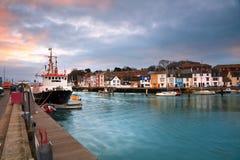 Port de Weymouth dans Dorset image stock