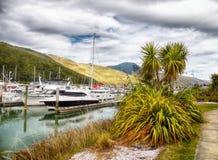 Port de yacht, Abel Tasman NP, la Zélande Photos libres de droits